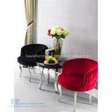柔らかいクッションのステンレス鋼のホテルの椅子(HW-YH90C)