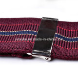Жаккард верхнего качества Stripes кожаный подтяжки зажима для людей (BD1032)