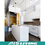 Cabina de cocina Finished ULTRAVIOLETA del diseño moderno con la isla hecha en China (AIS-K971)