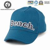 El azul de cielo hermoso clásico se divierte la gorra de béisbol con el bordado 3D