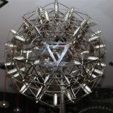 De moderne Ronde Lamp van de Tegenhanger van het Roestvrij staal voor het Project van het Hotel
