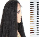 longue perruque droite de cheveux humains de Yaki du cheveu 7A brésilien