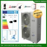 O quarto 12kw/19kw/35kw do medidor do aquecimento de assoalho 100-300sq do inverno de Alemanha -25c degela sistema rachado do calefator de água da bomba de calor da fonte de ar de Evi