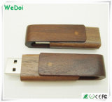 Disco instantâneo do USB do giro de madeira com capacidade total (WY-W09)