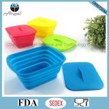 Rectángulo plegable Sfb12 del alimento del silicón del silicón del almacenaje promocional del alimento