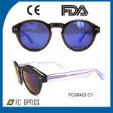 Runde Form-Art-handgemachte Sonnenbrillen mit Cer, FDA