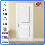 Puerta de madera interior blanca de madera sólida de HDF