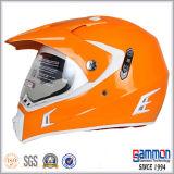 レモン緑のMotorcrossの専門の輝いたヘルメット(CR407)
