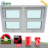 Glace Tempered d'UPVC Windows à haute impression pour la Chambre