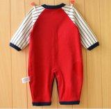 かわいい印刷を用いる長い袖の幼児ロンパースおよび赤ん坊の衣服の刺繍