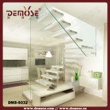 Escalera flotante cubierta con escalones de madera (DMS-6024)