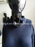 Fall/Winter Frill Neck Design Pure Colour Sweater für Women/Ladys