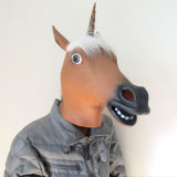Nuevo diseño de látex máscara unicornio máscara de Halloween máscara de goma personalizada