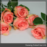 Touch reale Artificial Silk Flowers Rosa per Wedding Decoration