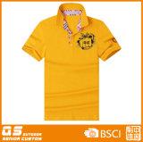Maglietta di polo di marchio di potere degli uomini