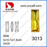 Caliente Ventas Light Topaz Rectángulo Cristal Cristal Perlas para Joyería