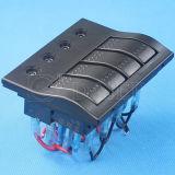 Автомобильная панель перекидного переключателя 4 для шлюпок/панели переключателя Customed морской