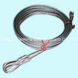 Bride de câble métallique d'acier inoxydable