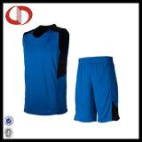 男の子のための100%年のポリエステル乾燥した適合のカスタムロゴのバスケットボールのユニフォーム