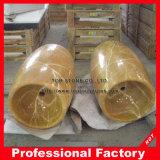 Ручной работы желтые мраморный каменные раковины