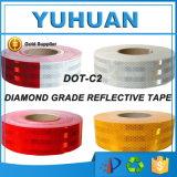 Красная и белая лента стрелки кристаллический решетки PVC/любимчика отражательная