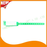 Krankenhaus Insert Card Custom Vinyl Plastic Wristbands Bracelet Bands (6060A10)