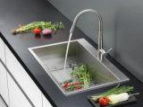 Edelstahl-Oberseite-Montierungs-einzelne Filterglocke-handgemachte Küche-Wanne