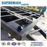 20FT 야드 사용을%s 실용적인 평상형 트레일러 콘테이너 수송 산업 견인봉 트레일러