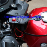 Car Motorcycle MotorbikeのためのSwitchの12-24V Dual USB Charge Socket