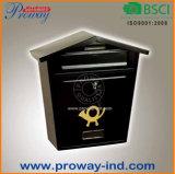 Boîte aux lettres extérieure fixée au mur en métal de vente chaude