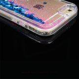 GroßhandelsLiquid Oil Glitter Quicksand Transparent Phone Fall für iPhone5/6/6plus