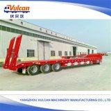 容器輸送のための半高品質油圧上昇の平面のトレーラー