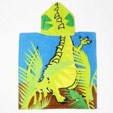 Poncho imprimé par chevreaux concurrentiels animaux de Bath de poncho de plage de conception