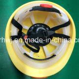 Casco del lavoro del minatore integrato alta qualità della Cina con l'indicatore luminoso del LED, protezione di sicurezza con il faro del LED, elmetti protettivi di sicurezza con il fornitore protetto contro le esplosioni del faro del LED