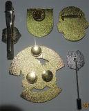 Divisa al por mayor del Pin de la solapa del metal dos porciones fijadas