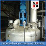 O produto químico reage a chaleira