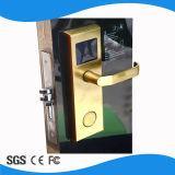 Het hete Verkopende Heldere Gouden Elektronische Slot van de Deur van het Hotel van de Cilinder van het Tapgat