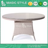 Mesa redonda de vime ajustada de jantar de vime de tabela de jantar da tabela de jantar da cadeira da mobília P.E do jardim da cadeira do Rattan