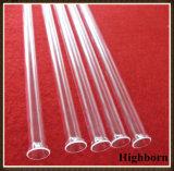 Transparentes fixiertes UVblockenquarz-Glasgefäß-Rohr