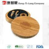 Bamboo Wine Tool Set с Round Bamboo Wine Case
