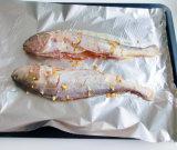 papier d'aluminium de ménage de catégorie comestible de 8011-O 0.012mm pour des poissons de torréfaction