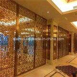 stanza moderna Divider Screen Doubai Style di Stainless Steel per camera di albergo Decoration