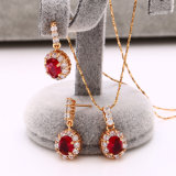 18k Gold Plated CZ Stone Jewelry 다이아나 Engagement Set (62227)