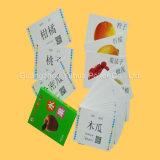 Изготовленный на заказ играя карточки учя карточки Flashcards карточек воспитательные
