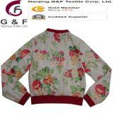매력적인 숙녀 다채로운 빨간 폴리에스테 폭격기 재킷