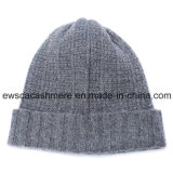 Мужская верхняя ранг Pure Cashmere Beanie Hat A16mA2-001