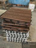 Деревянная плитка тимберса зерна WPC твердая для сада