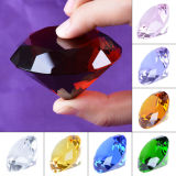 Paperweight Decoration、8PCS/Setのための60mm Multi Color Crystal Glass Diamond