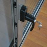 Dunkler Griff mit Schlüssel anodisiertem Aluminiumlegierung-schiebendem Aluminiumfenster mit Moskito-Netz K01028