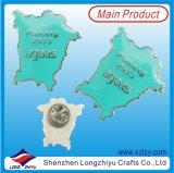 De Spelden van het Kenteken van het Metaal van het Ontwerp van de Kaart van de douane met Zilver in Goede Kwaliteit wordt geplateerd die